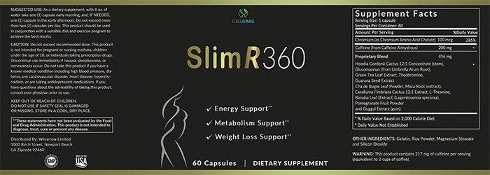 SlimR 360 Ingredients